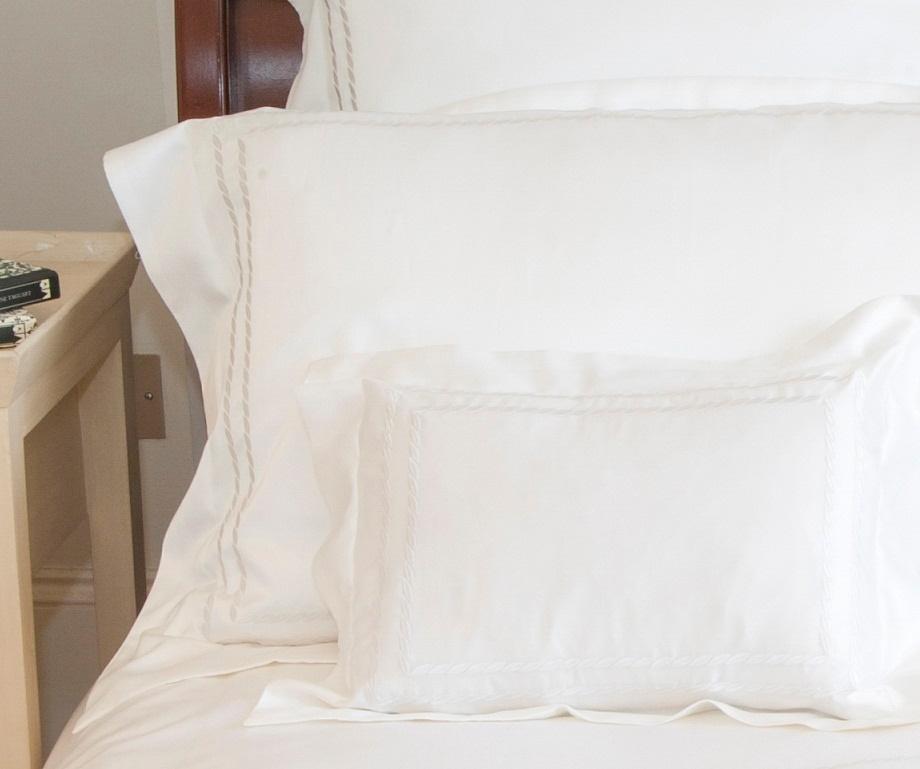 gingerlily chloe weiss baumwoll seide bettw sche. Black Bedroom Furniture Sets. Home Design Ideas