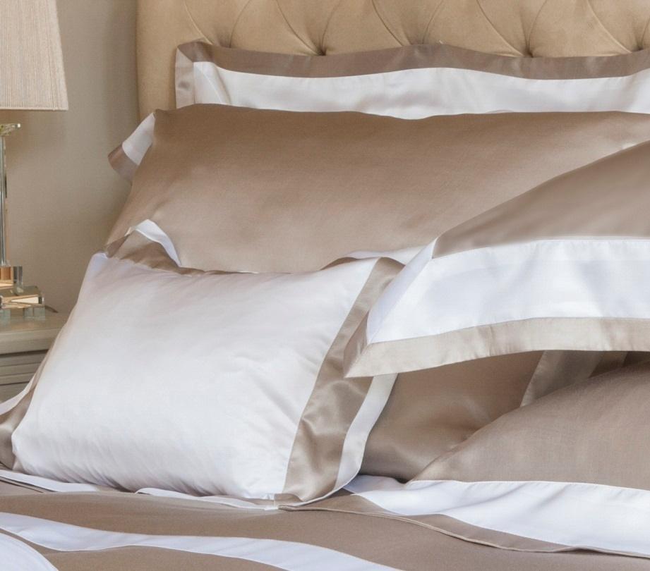 gingerlily city beige baumwoll seide bettw sche. Black Bedroom Furniture Sets. Home Design Ideas