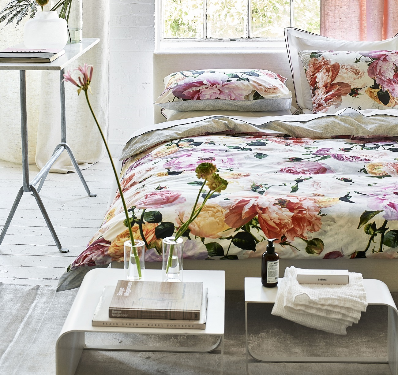 designers guild charlottenberg peony bettw sche. Black Bedroom Furniture Sets. Home Design Ideas