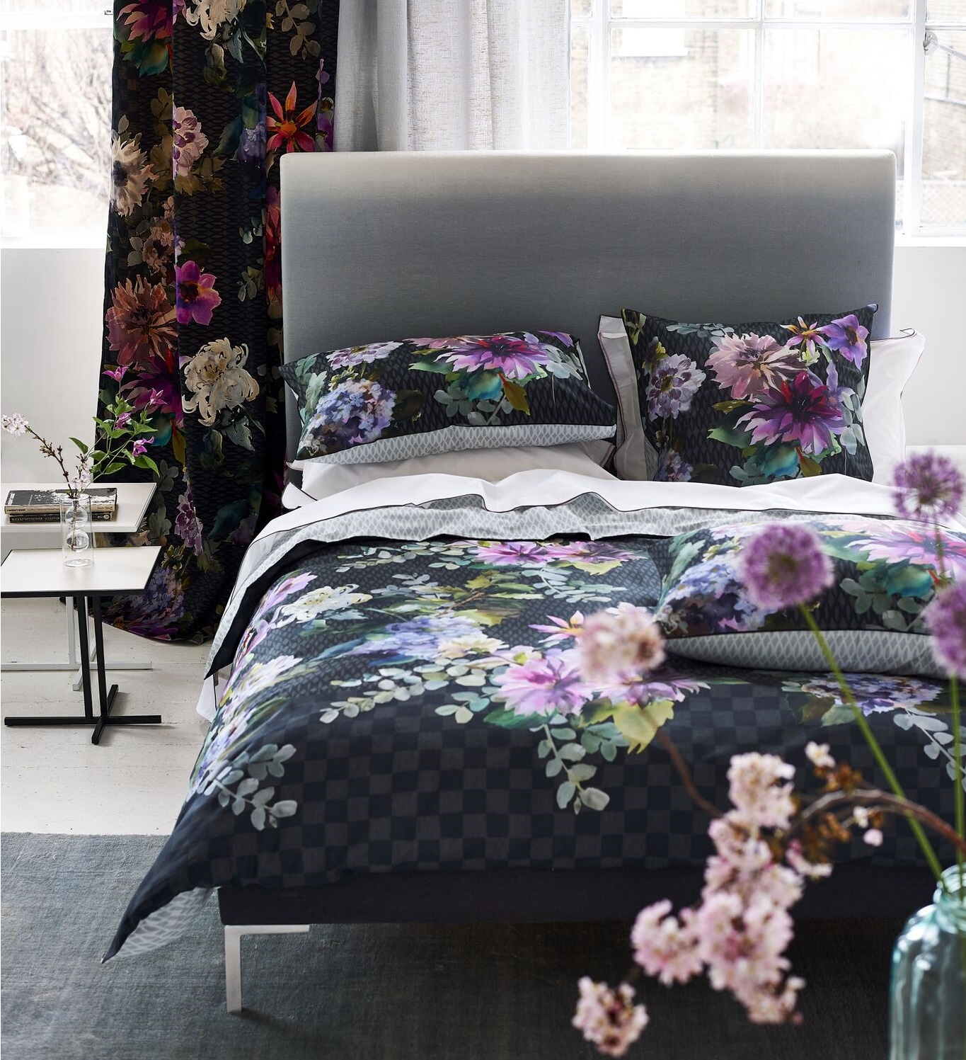designers guild astor delft bettw sche weiss. Black Bedroom Furniture Sets. Home Design Ideas