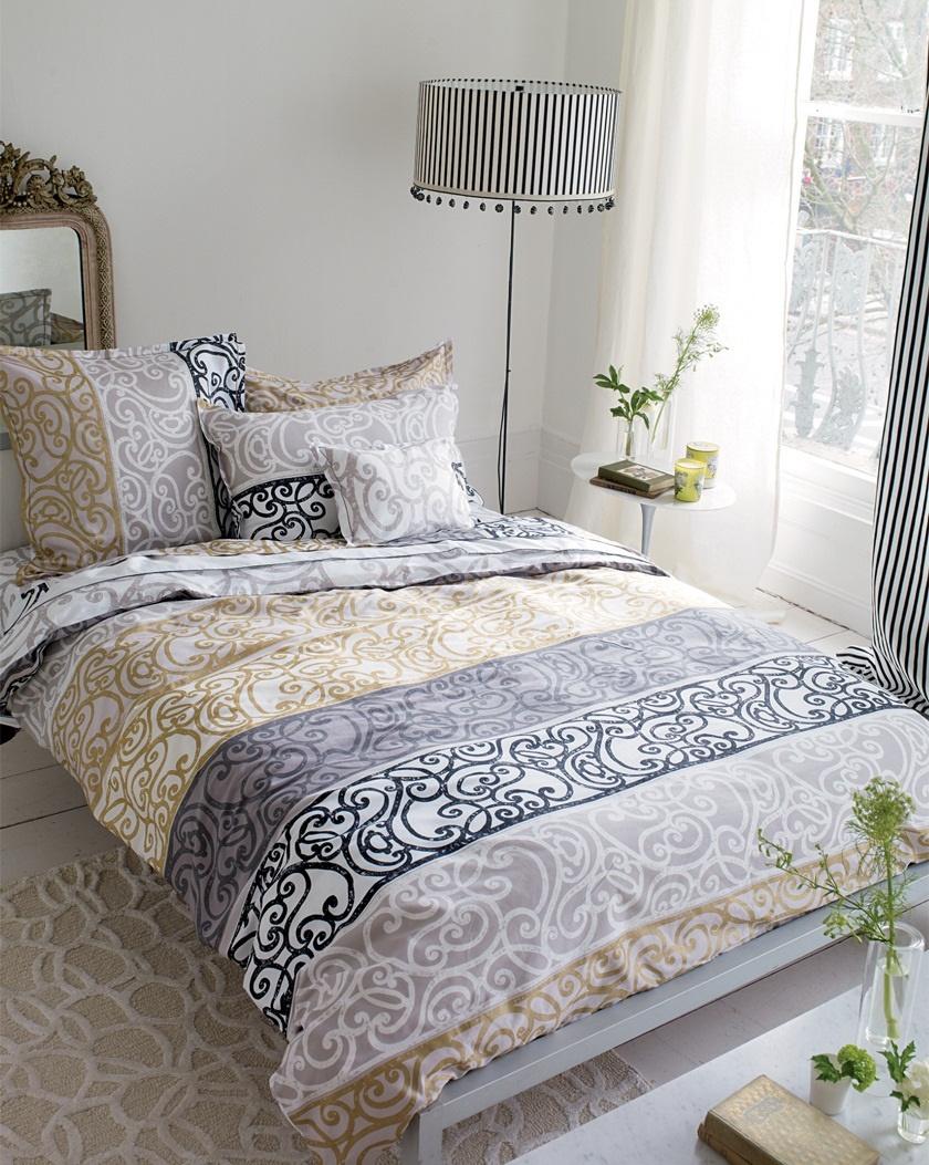 designers guild fretz grau wendebettw sche. Black Bedroom Furniture Sets. Home Design Ideas
