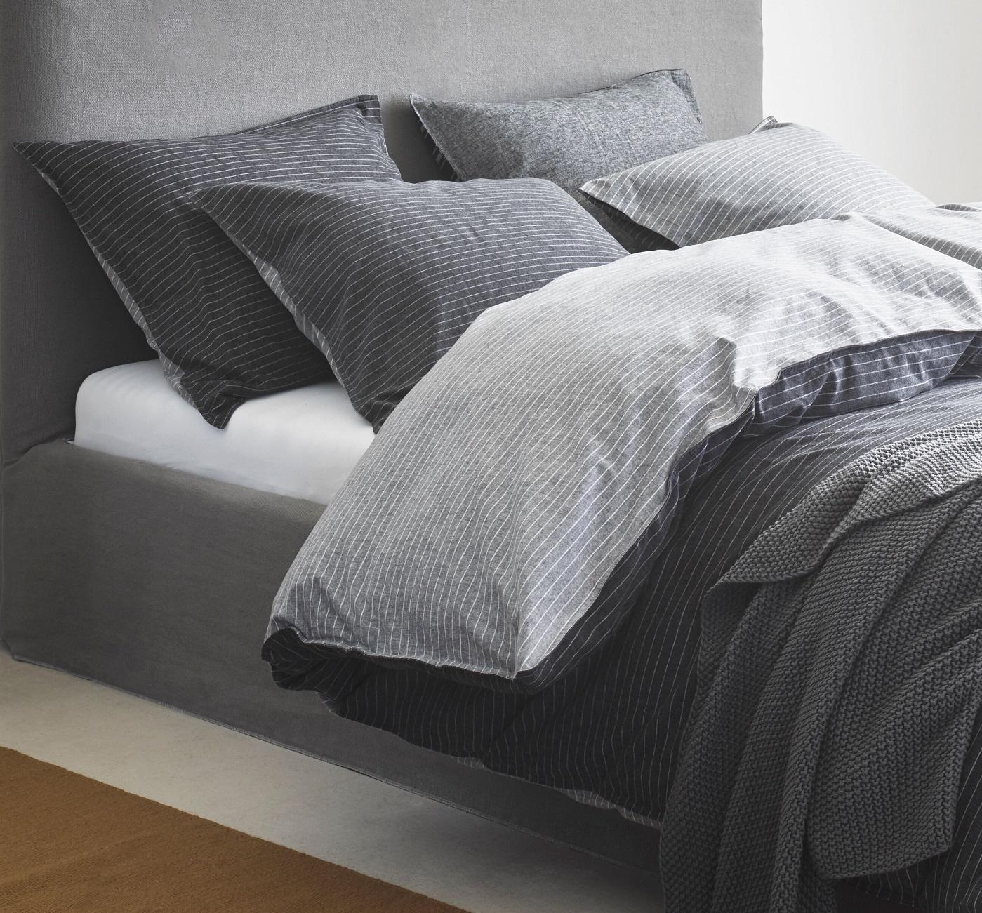marc o 39 polo jensen flanellbettw sche black. Black Bedroom Furniture Sets. Home Design Ideas