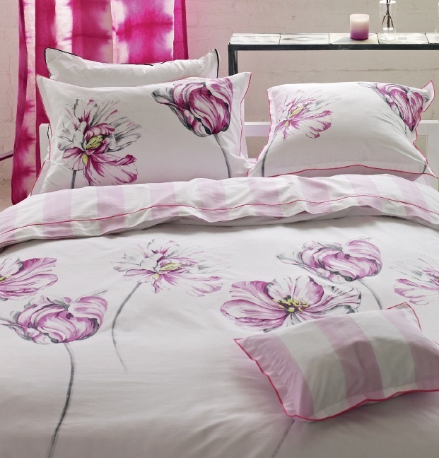 designers guild montsuki fuchsia satin bettw sche. Black Bedroom Furniture Sets. Home Design Ideas