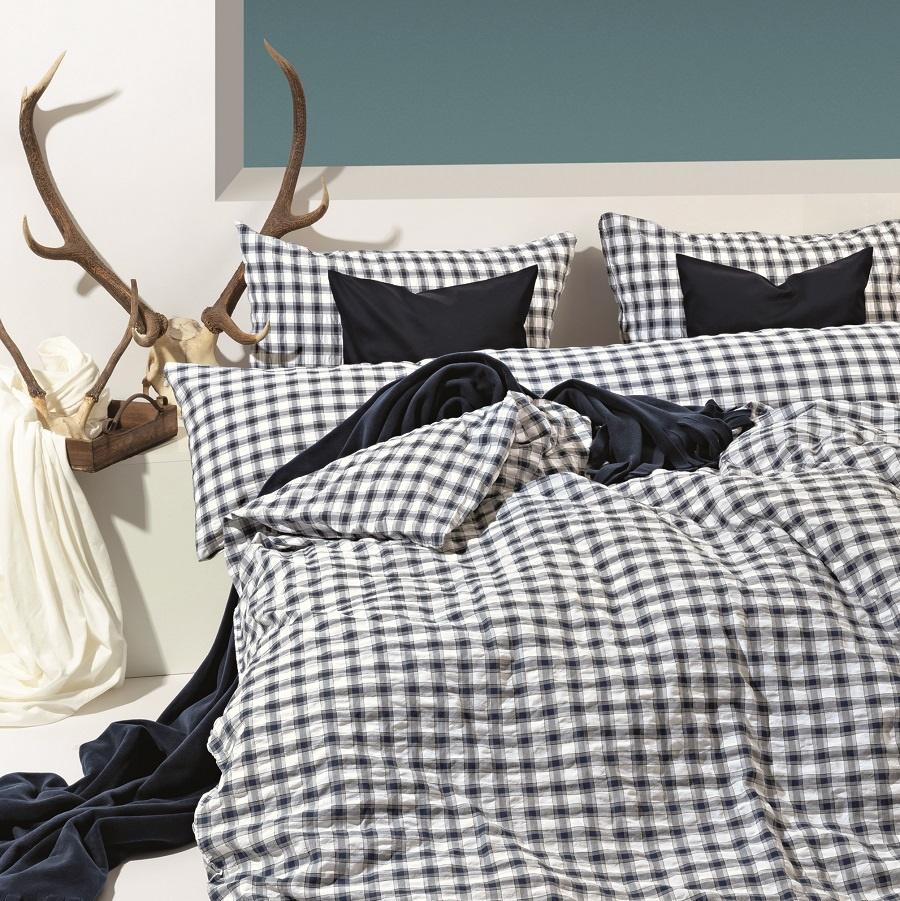 divina edelk lsch navy seersucker bettw sche. Black Bedroom Furniture Sets. Home Design Ideas