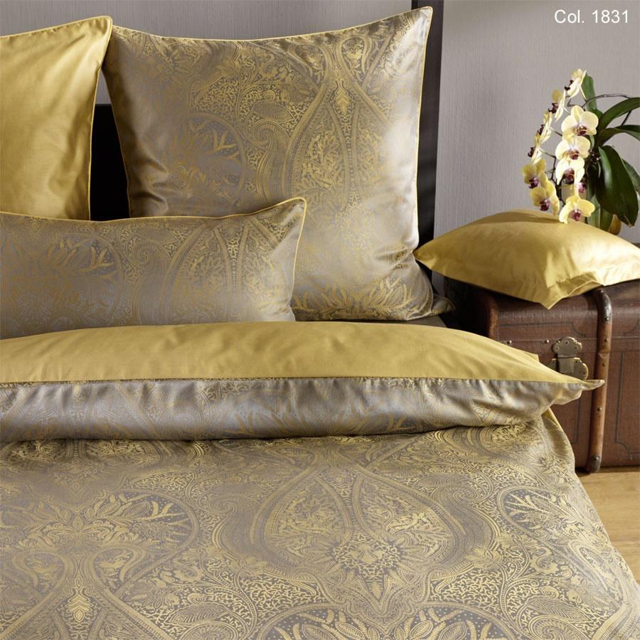 curt bauer brokat damast bettw sche delhi messing. Black Bedroom Furniture Sets. Home Design Ideas