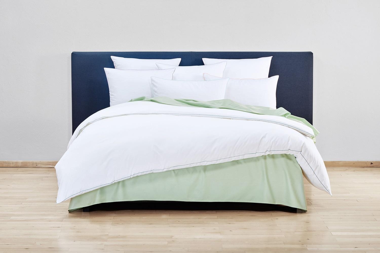 christian fischbacher noble stripes satin bettw sche. Black Bedroom Furniture Sets. Home Design Ideas
