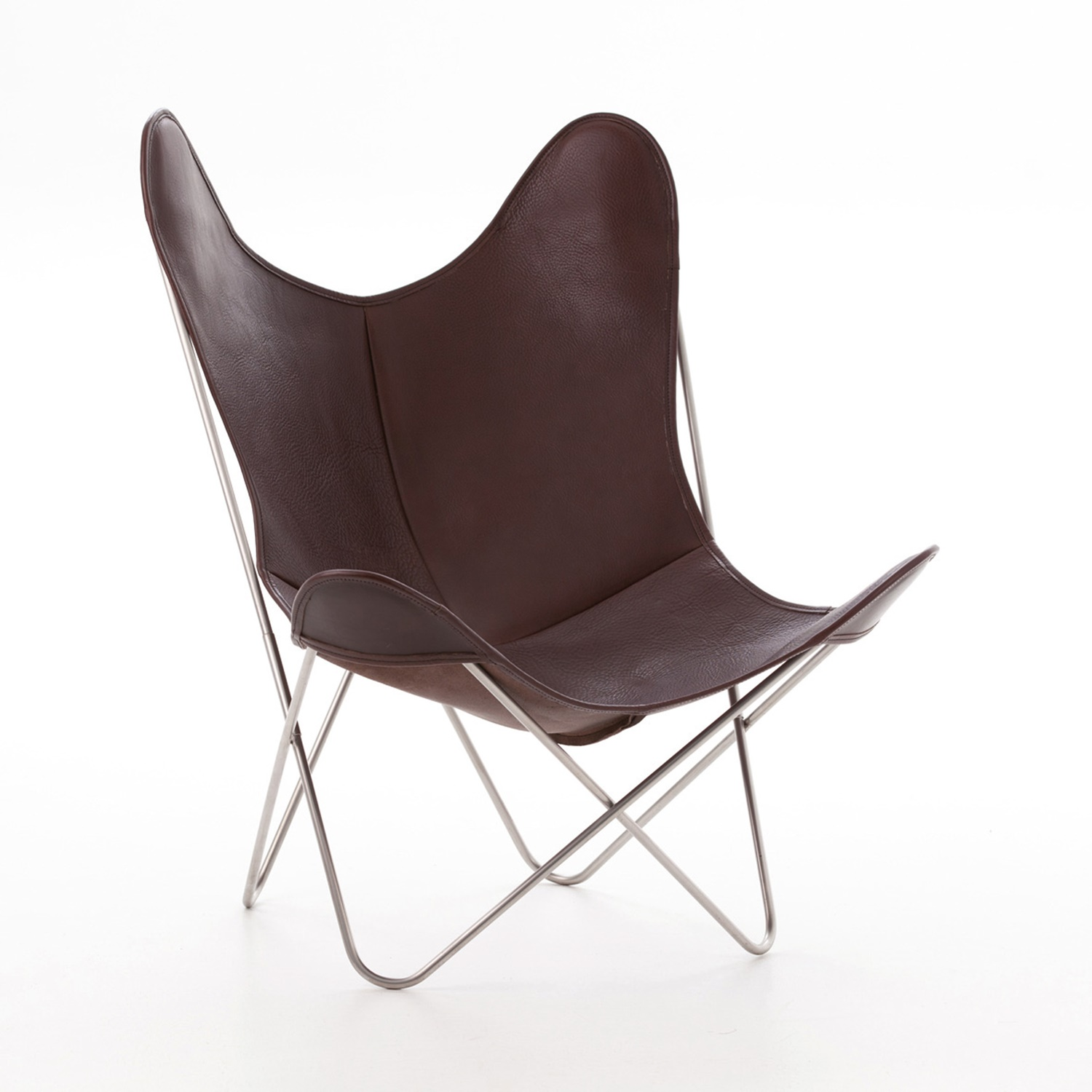 aa by airborne butterfly chair le chocolat leder. Black Bedroom Furniture Sets. Home Design Ideas