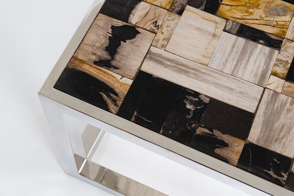 Beistelltisch Versteinertes Holz ~ MÖBEL » Clubtische, Beistelltische