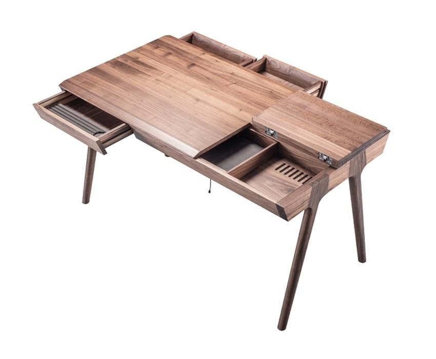 Wewood massivholz schreibtisch metis walnuss - Scrivanie legno design ...