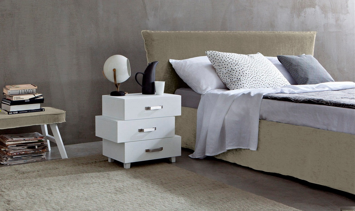 letti co capri low polsterbett. Black Bedroom Furniture Sets. Home Design Ideas