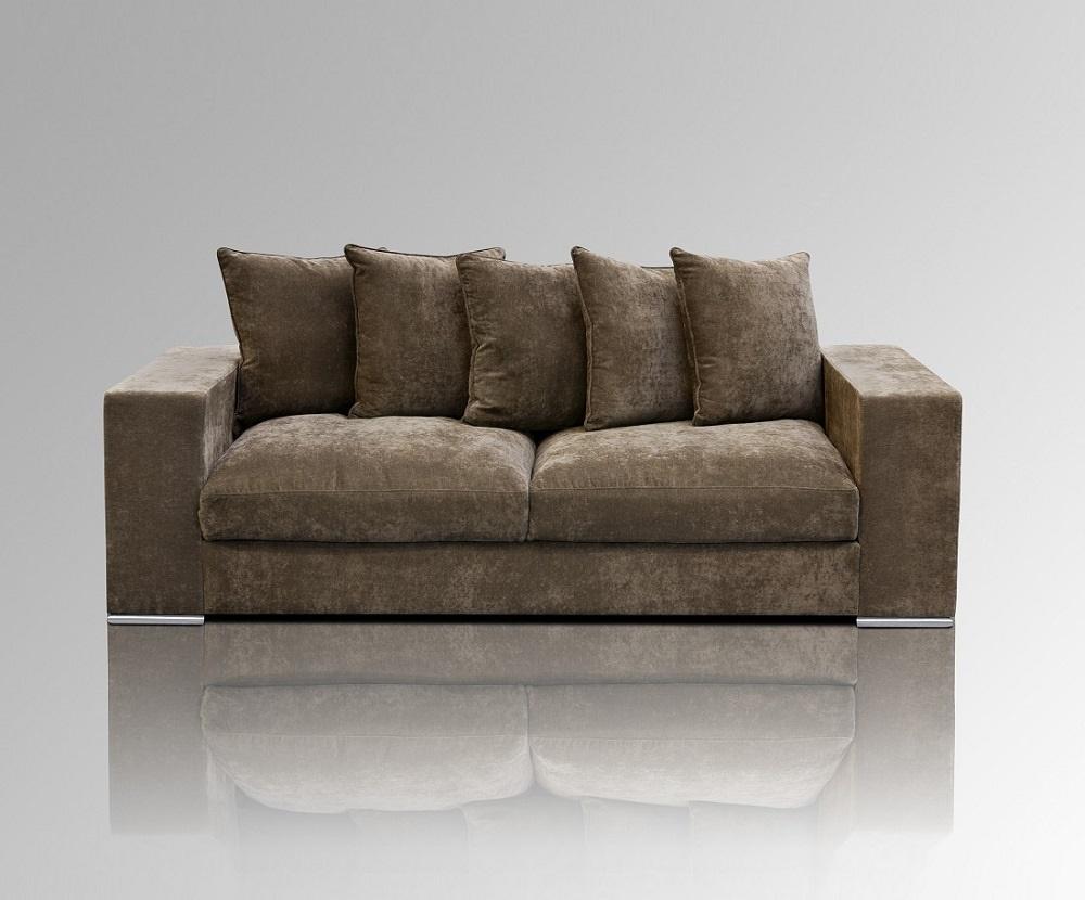 samt sofa 3 sitzer taupe. Black Bedroom Furniture Sets. Home Design Ideas