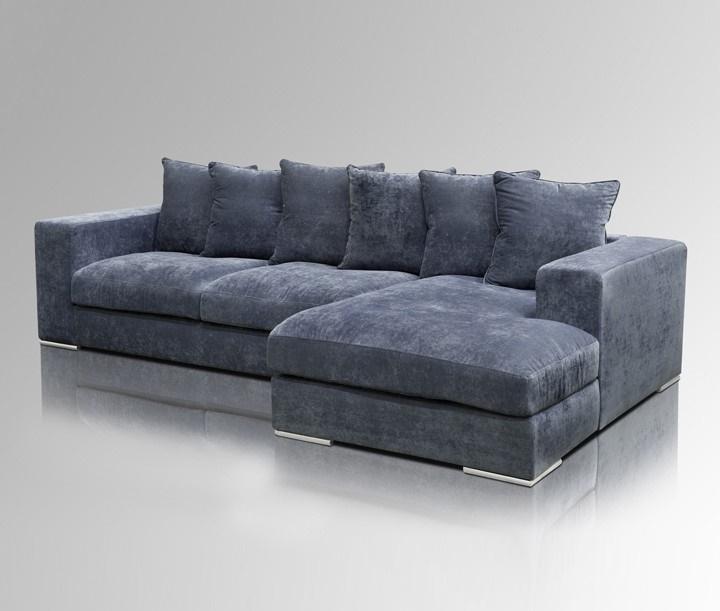 samt ecksofa blau rechtsseitig. Black Bedroom Furniture Sets. Home Design Ideas
