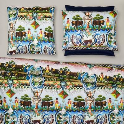 christian fischbacher schneefl ckli weiss satin bettw sche. Black Bedroom Furniture Sets. Home Design Ideas
