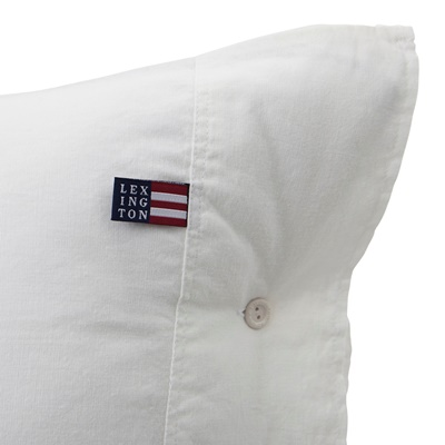 Lexington Washed Cotton Linen White Bettwäsche