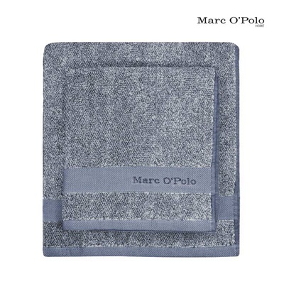 Marc O'Polo Timeless Mélange Handtuch Smoke Blue