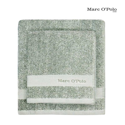 Marc O'Polo Timeless Mélange Handtuch Green