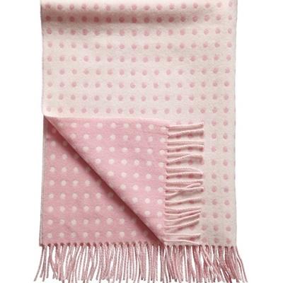 baby wolldecke gepunktet rosa. Black Bedroom Furniture Sets. Home Design Ideas