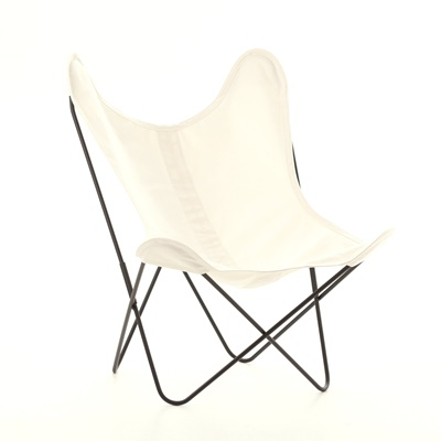 AA by Airborne Butterfly Chair, Baumwollhusse Ecru