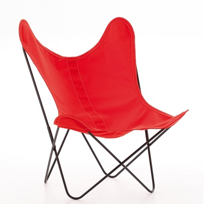 AA by Airborne Butterfly Chair, Baumwollhusse Rot