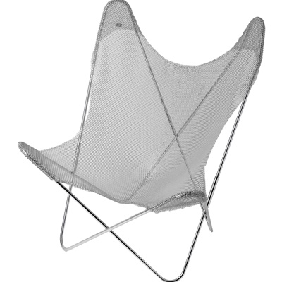 AA by Le Labo Butterfly Chair, Metallkettengewebe