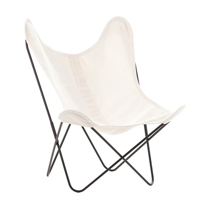 AA by Airborne Butterfly Chair, Baumwollhusse Naturweiss