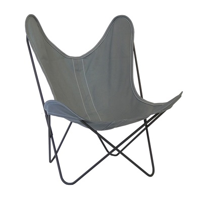 AA by Airborne Butterfly Chair, Baumwollhusse Grau