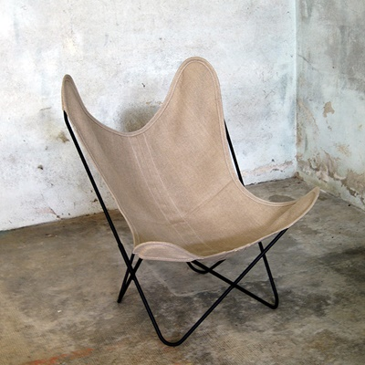 AA by Airborne Butterfly Chair, Leinen Natur