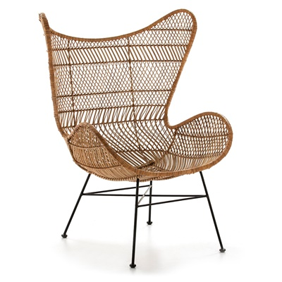 Sessel Metal/Wicker Natural