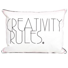 Creativity Rules Zierkissen