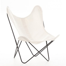 AA by Airborne Butterfly Chair, Baumwollhusse Weiss