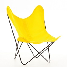 AA by Airborne Butterfly Chair, Baumwollhusse Gelb