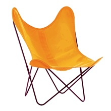 AA by Airborne Butterfly Chair, Baumwollhusse Safran